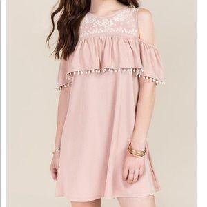 Alya Cold Shoulder Embroidered Dress